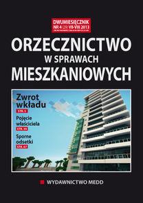 Orzecznictwo W Sprawach Mieszkaniowych - dwumiesięcznik - prenumerata półroczna już od 63,00 zł
