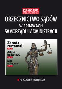 Orzecznictwo Sądów W Sprawach Samorządu I Administracji