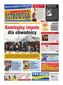 Gazeta Ostrowska - tygodnik - prenumerata kwartalna już od 2,50 zł