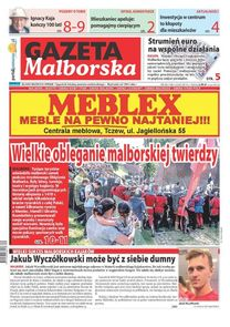 Gazeta Malborska - tygodnik - prenumerata kwartalna już od 2,60 zł