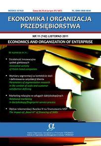 Ekonomika I Organizacja Przedsiębiorstwa